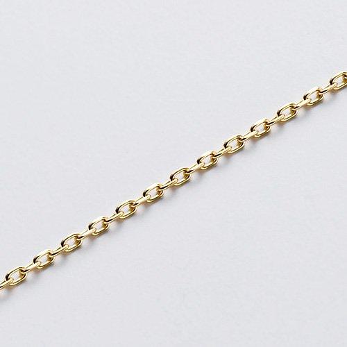 K10ゴールド カットチェーン 40/37cm