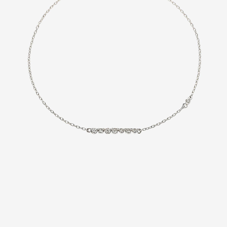 'ラ ソワ' ダイヤモンドブレスレットS(K18WG)