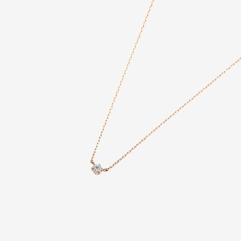 'マ ジョリ' ダイヤモンドネックレス 0.06ct(K18PG)