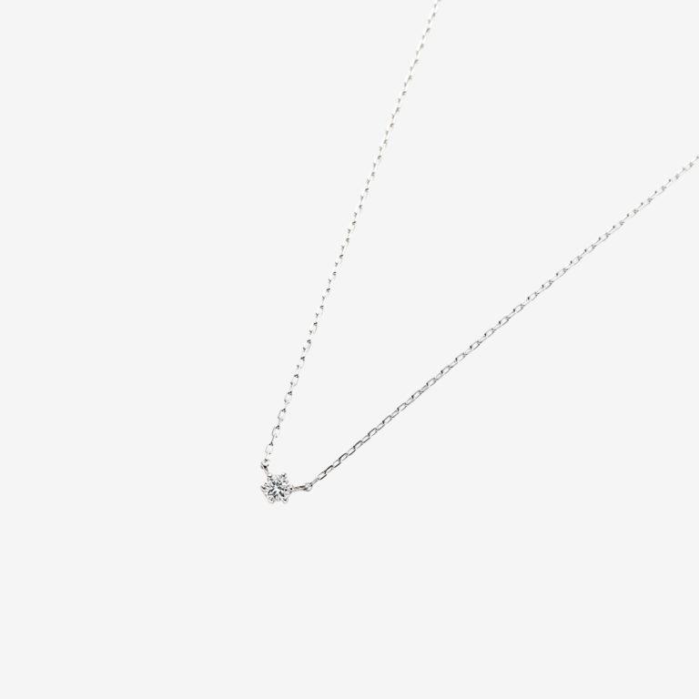'マ ジョリ' ダイヤモンドネックレス 0.06ct(K18WG)