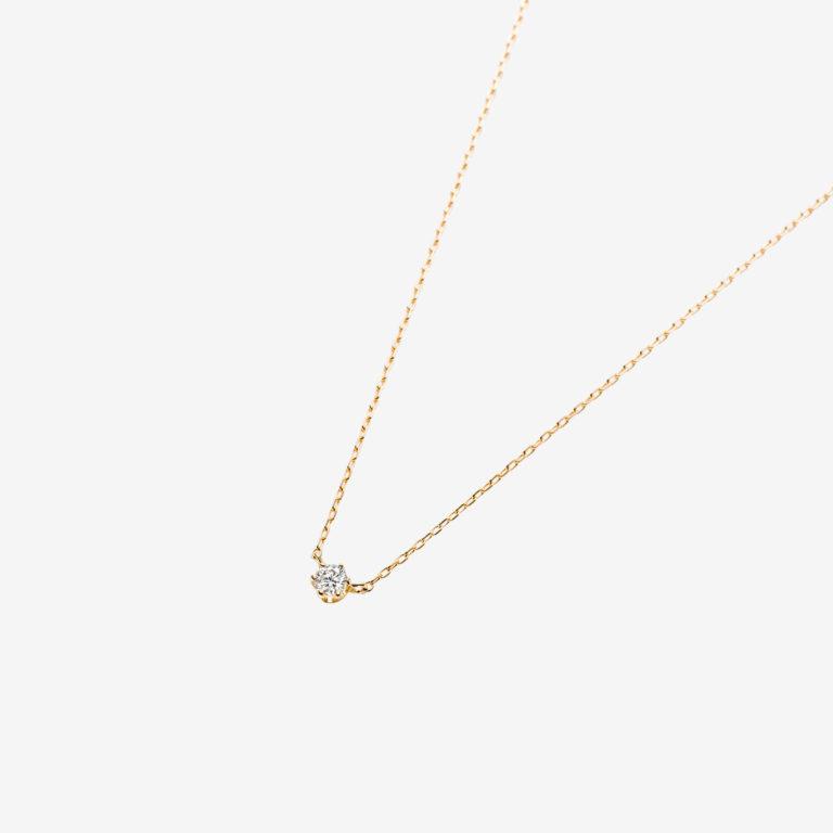 'マ ジョリ' ダイヤモンドネックレス 0.06ct(K18YG)