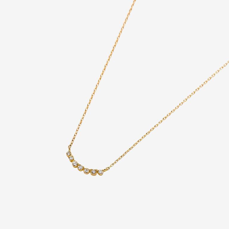 'ラ ソワ' ダイヤモンドネックレスS(K18YG)