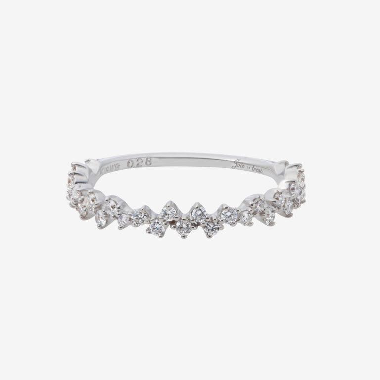 ランダムラインダイヤモンドリング(K18WG)