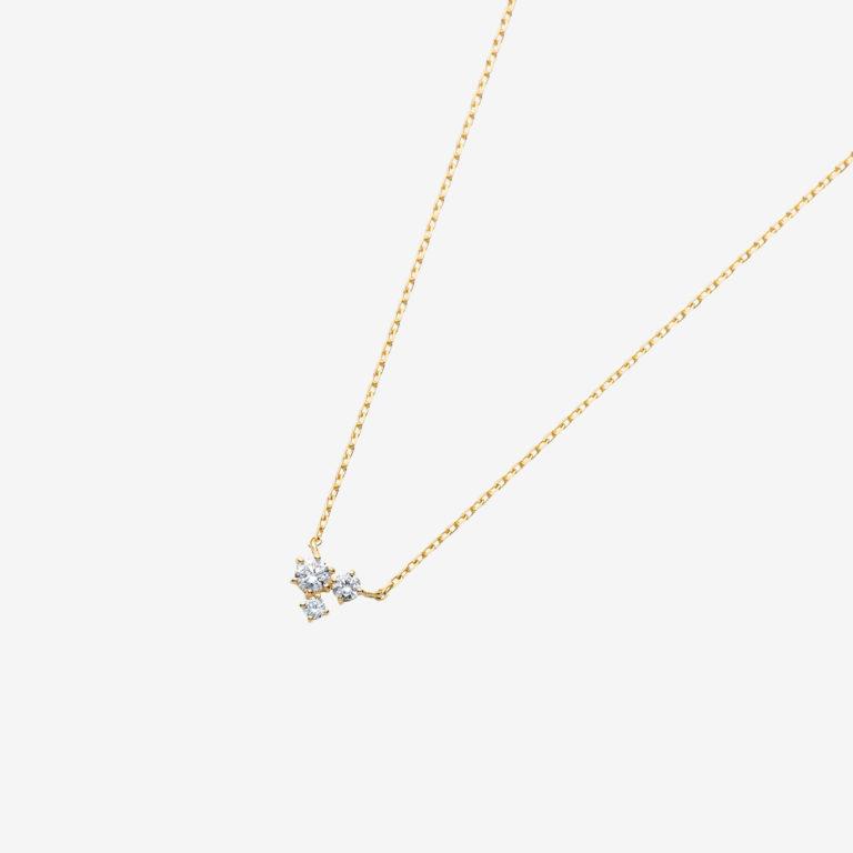トリプルダイヤモンドネックレス(K18YG)