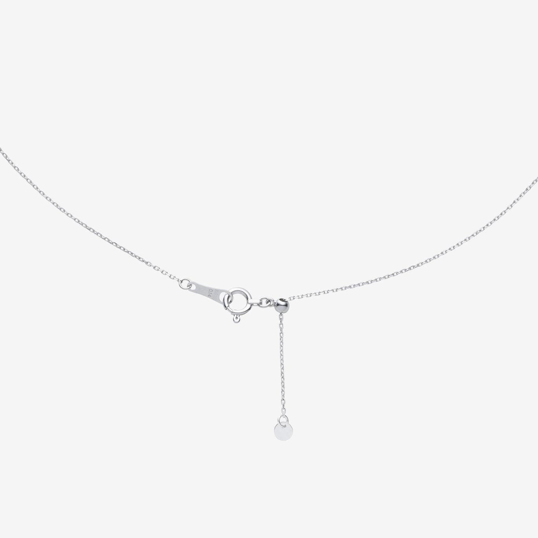 ランダムラインダイヤモンドネックレスL(K18WG)