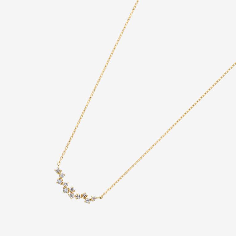 ランダムラインダイヤモンドネックレスS(K18YG)