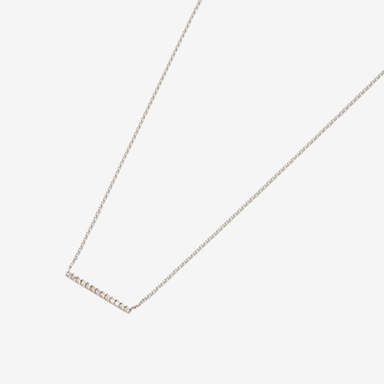 パヴェダイヤモンドバーネックレスS(K18WG)