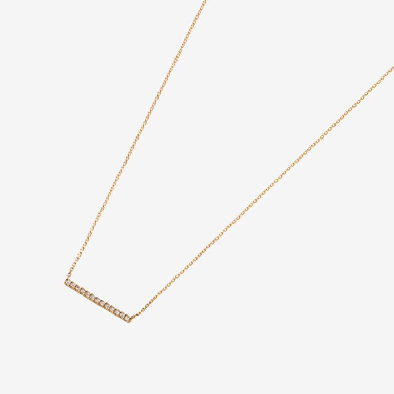 パヴェダイヤモンドバーネックレスS(K18YG)